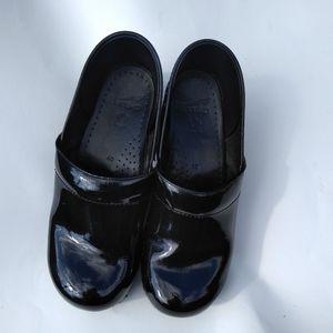 Dansko black slip on shoes